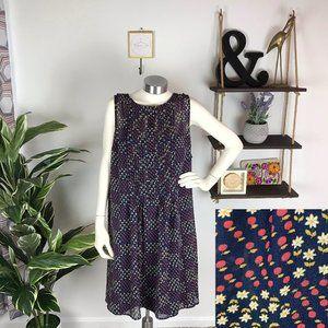 ModCloth Retro Floral Apple Pleated Dress